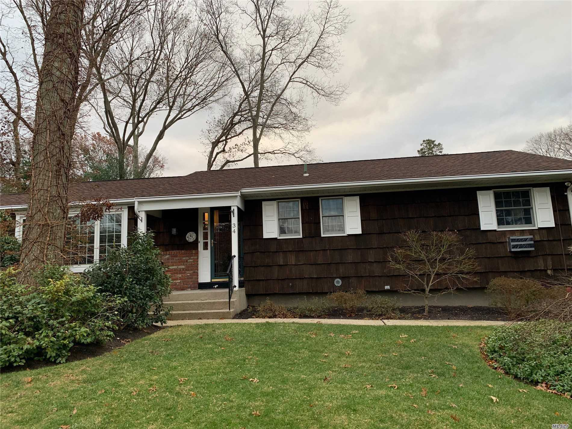 Well Appointed Ranch w Hardwood Floor throughout , Cedar Shake , Fenced Backyard, Spacious Bedrooms, 2 Zones for Heat, Sprinklers , Roof 5 Years Old, Burner 5 Years Old , H/W Heater 5 Years Old , Full Finished Basement, EIK, DR and Den w Fireplace, Beautiful Cared For Mature Specimen Trees and Gardens