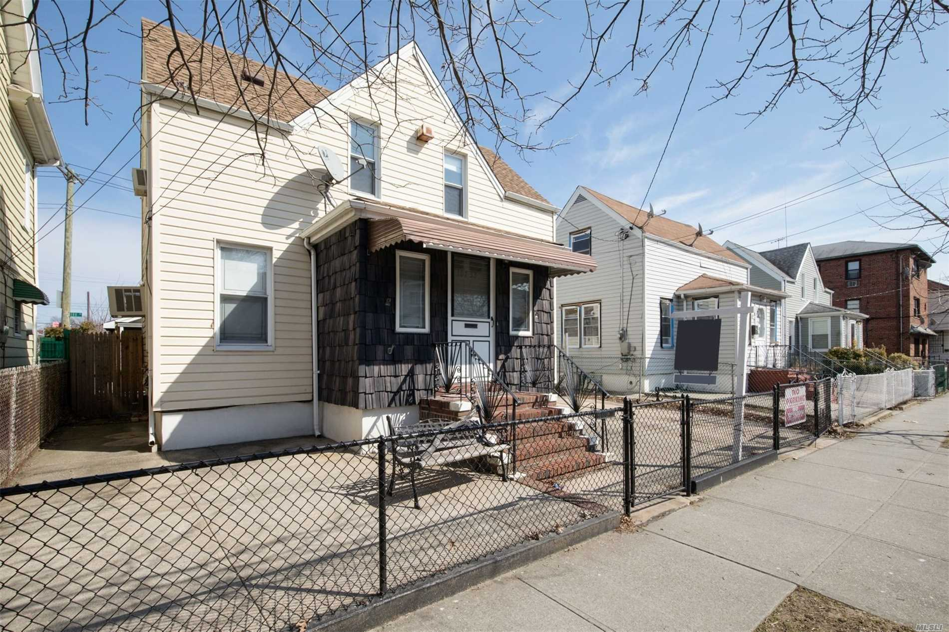 1 Family 2 Bedroom, 1.4 Car Garage, With Rear 2nd Entry To Garage, Pvt Driveway, 2 Blocks From A Train And Express Bus. Duckless A/C, Alarmed...All Information Deemed Reliable And Should Will Be Verified...