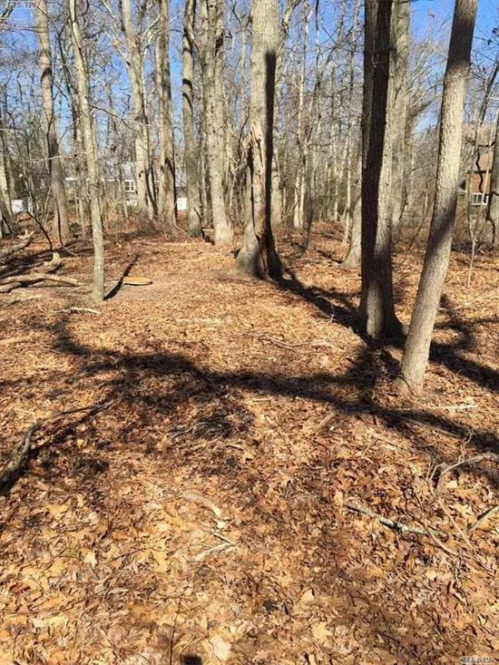 Lovely Private Treed 1.45 Acre Property Located A Short Distance To Popular McCabe's Sound Beach. This Property Abuts 22 Acres Of Southold Town Preserved Land.