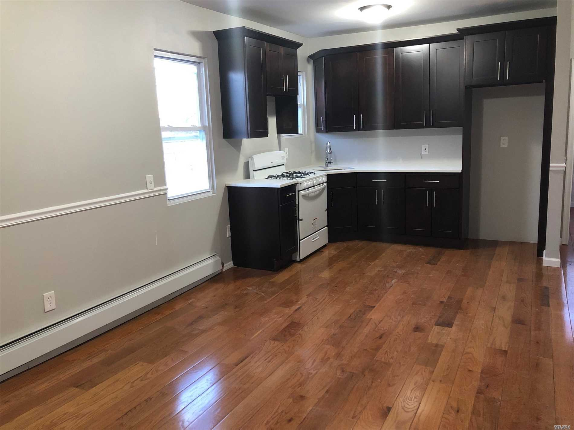 Beautifully renovated 3 bedrooms and 1 bath apartment. Hardwood floors throughout. Turn key ready to make it your home.