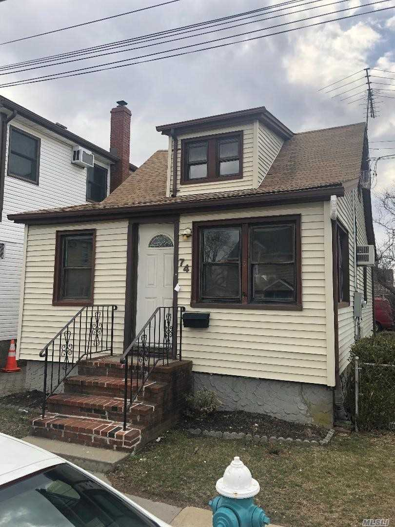 ADORABLE RENOVATED CAPE COD WITH ALL NEW CARPET AND FRESH PAINT 2 BEDROOMS 1 BATH FULL BASEMENT CORNER PROPERTY WALK TO HOUSE OF WORSHIP AND SHOPING WITH LOTS OF TRANSPORTATION