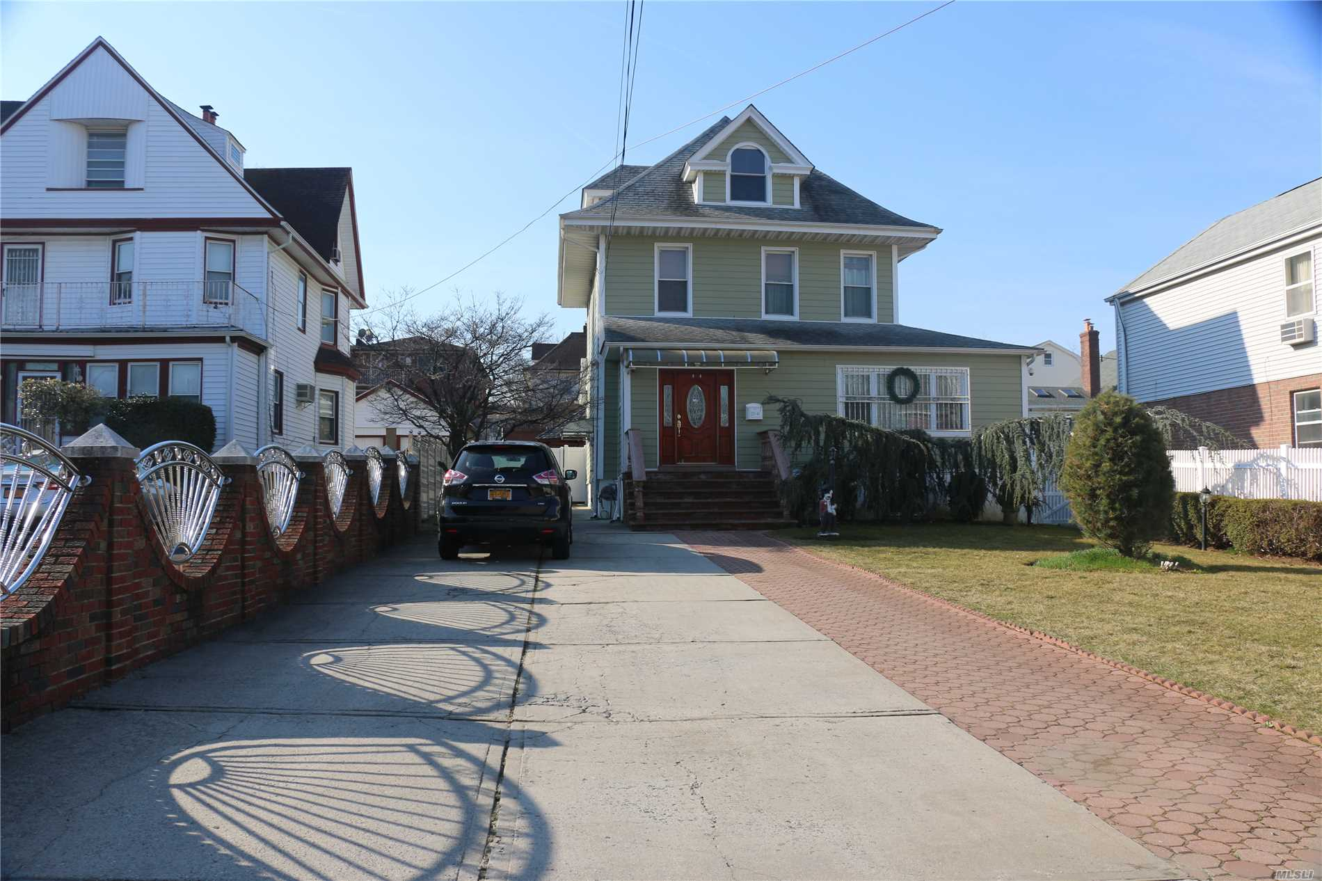 R4-1 with lot size 8750 sq ft in the prime area of College Point, walk to park, bus,  now 2 family used as 1 family with updated kitchen and baths, total 6 beds, 3 full baths, 2 half baths, good for big family 2 tankless furnaces(1fl+basement, 2fl+attic) extra deep property 50x175=8750 square footage, with R4-1 f or rebuild huge multi family , next to Hermon MacNeil Park,  walk to Q25(to Main St., Flushing), huge backyard with gazebo, place for relaxing and privacy