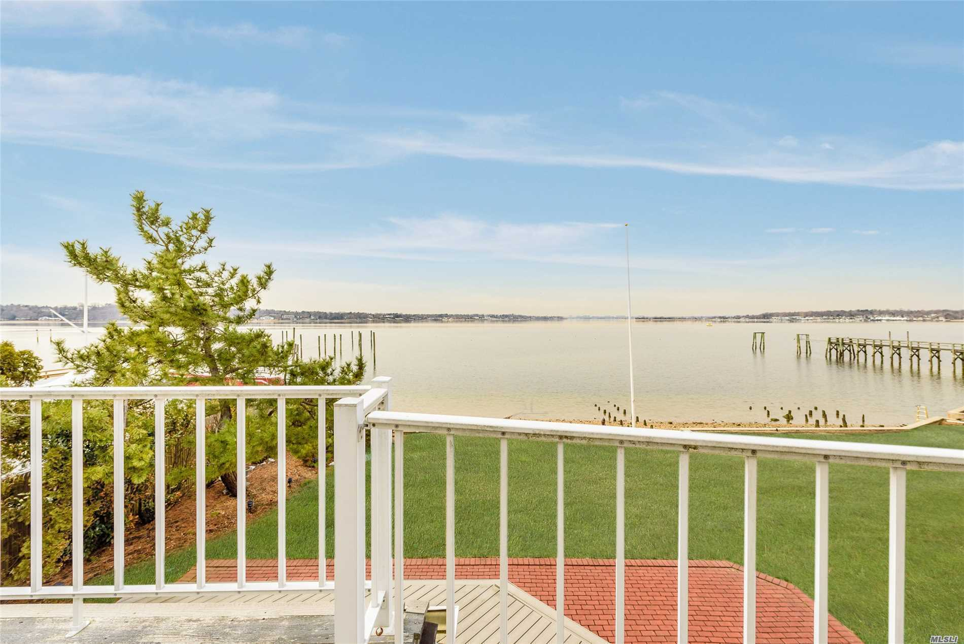 Spectacular Remote Waterfront in Port Washington For $2, 499, 000. Situated on a Private Road in a Cul De Sac, this Home has Jaw-Dropping Views of Manhasset Bay. Abundant Amounts of Natural Light Throughout Capitalize On Breathtaking Water Views. The 1st Floor Offers Multiple Living Spaces Designed For Intimate Gatherings & Entertaining. The Master & Junior Master Suites Include Sliding Doors To Your Own Private Waterfront Deck That Will Provide Spectacular Sunrises and Sunsets Year Round.