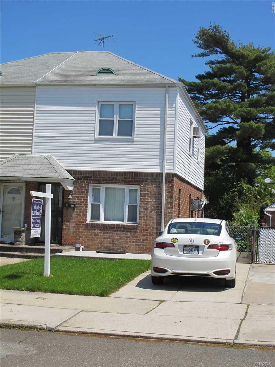 BRIGHT WITH ALL RIGHT DIRECTIONS EAST, SOUTH AND WEST AWAITING FOR NEW INSPIRATION/ NEW OWNERS. 2 BEDROOMS, LIVING ROOM, EAT IN KITCHEN, FULL BASEMENT, WELL MAINTAIN WITH NEW LONG DRIVEWAY, UPDATED WINDOWS. BEAUTIFUL WOOD FLOORS.ZONING R3-1 WITH OPTION TO EXPEND. BUYERS MUST VERIFY.. EXCELLENT SCHOOL DISTRICT 26, ZONED FOR PS 162 & 74 EASY ACCESS TO MAJOR HIGHWAYS, SHOPPING CENTER, PARK LIRR, AND BUS TO MANHATTAN AND FLUSHING. PLEASE OPEN FLOOR PLAN ATTACHMENT.