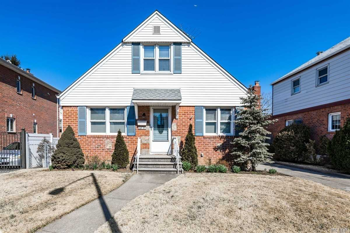 Super Solid Brick/Frame Four Bedroom, Three Bathroom Cape On Pristine Block. Clean & Lovingly Maintained By Longtime Owner. Quietest Sun-splashed Location Close To All Major Thoroughfares And Southern Exposure Boasts Lots Of Light. Spacious Rooms, Great Yard On 45x100 Lot, Oversized One Car Garage, & Finished Basement.