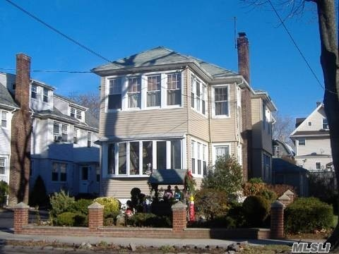 FULLY RENOVATED, Polished Floors, 3 Bedrooms 1 Bath Apartment, 1st Floor Of Legal 2 Family House,  Prime Mid Block Location!