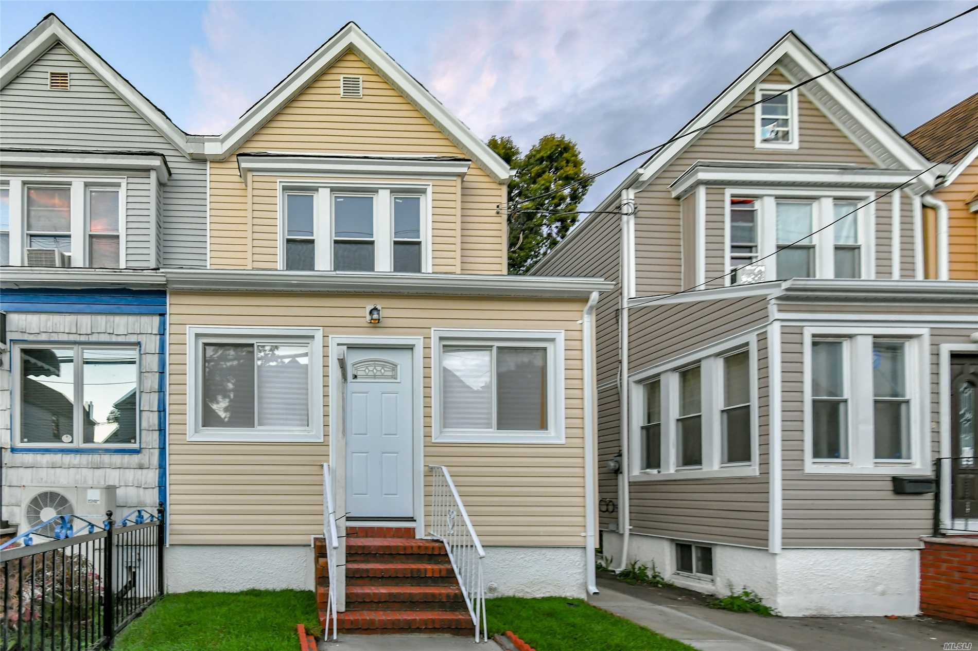 Totally renovated 1 fam detached colonial. Brand new kitchen + baths, new windows, siding sheet rock, electric & plumbing. New boiler & hot water heater. Hardwood floors. 1 car garage & finished basement & much more.