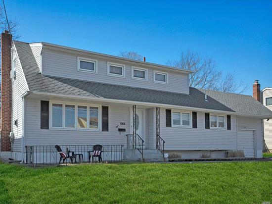 Welcome to 566 Everdell. This family home features Formal living with gas fireplace. open style Kitchen and Dining room, family room, enclosed porch with wood burning stove, out to deck in private yard, 4 bedrooms and 1.5 baths. one car attached garage. Do not miss out on this wonderful home.
