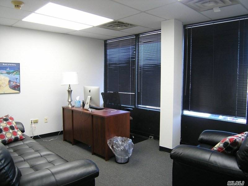 Below Market Sub-Let Mint Condition This is a great opportunity to sub-lease a mint, furnished office below market value. Asking only $18/sf; 1, 300sf for $1, 950/month. Lease expires on 9/30/2020. Two private offices with a large bull pen. Large storage closet that can be used for files. Great Parking!! Located close to Wantagh Parkway. Full Service Building!