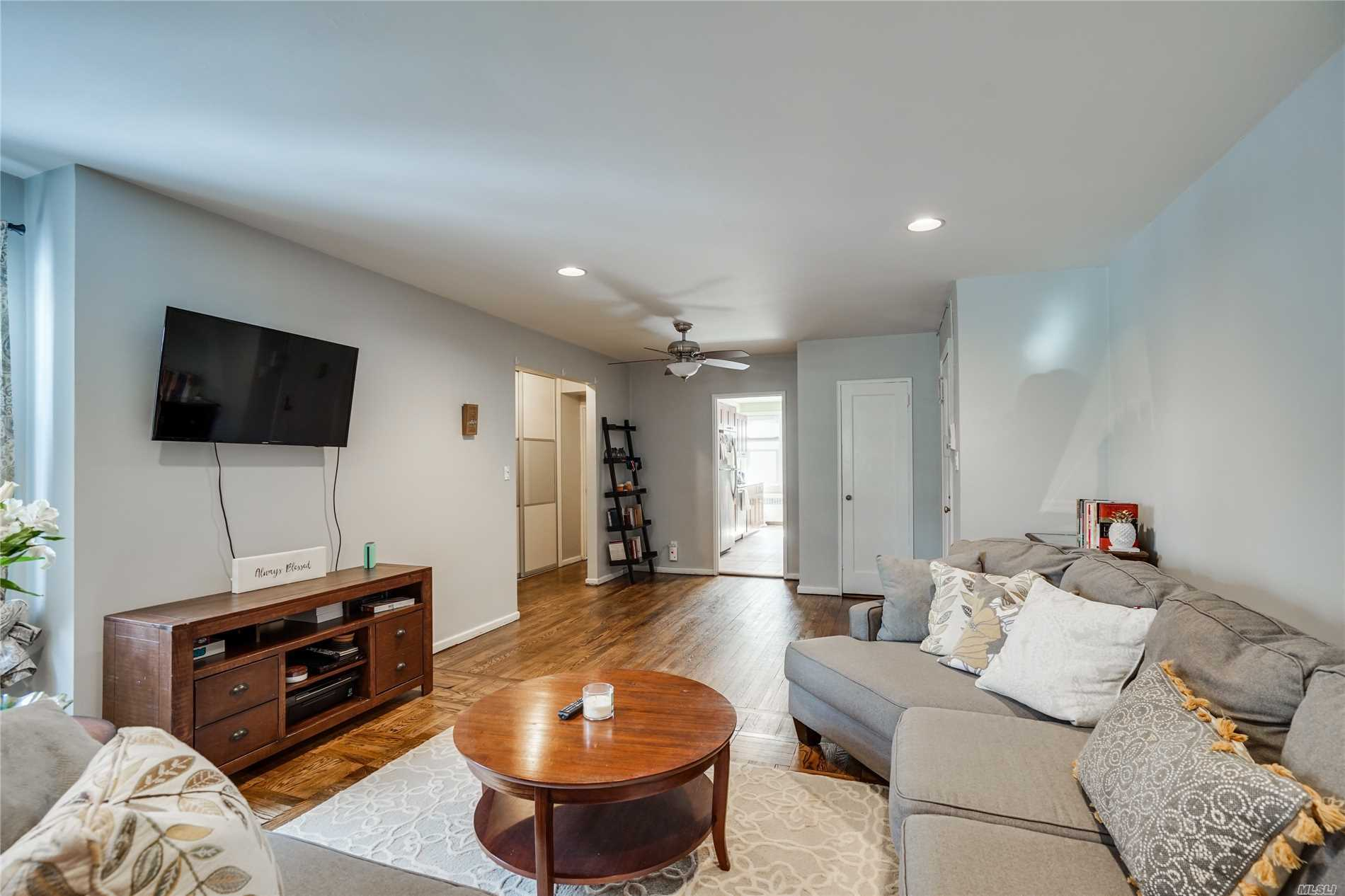 Sale may be subject to term & conditions of an offering plan. Amazing Unit, With Brand New Hardwood Floors. Amazing Brand New Custom Closets! Newly Updated Kitchen Cabinets and Counter Tops. Close to All Shopping and Restaurants! LIRR 35 Minutes To Manhattan!