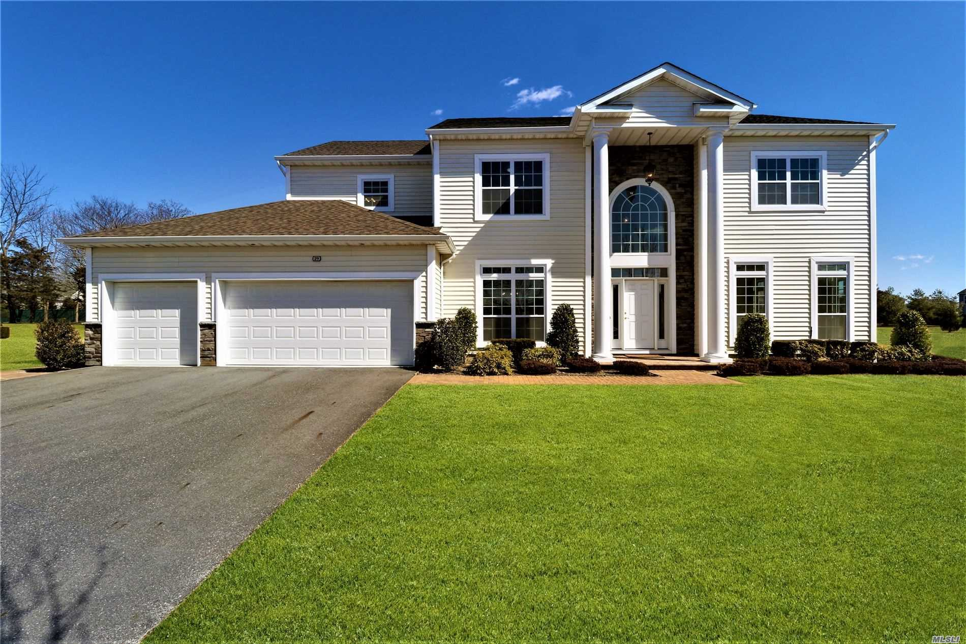 Sophisticated 5 Bed Colonial, Custom Built-In 2018, On Large Property, 0.53 ACRE, 3 Car Garage, 5 Bath, ENERGY STAR Home, In Private Gated Community W/24 Hr Security, Fitness Center, Clubhouse W/Outdoor Pool, Tennis & Basketball Courts, Paddle Boats, Putting Green, Gourmet Kitchen W/ Custom Cabinetry & Granite & Ss Appliances, Family Room W/ Cathedral Ceilings, Master Suite W/Jacuzzi & A 2nd Suite on the 1st Floor, Full Bsmt W/10'Ceilings, Huge Backyard W/ Paved Patio & Walkways, Smithtown Schools!