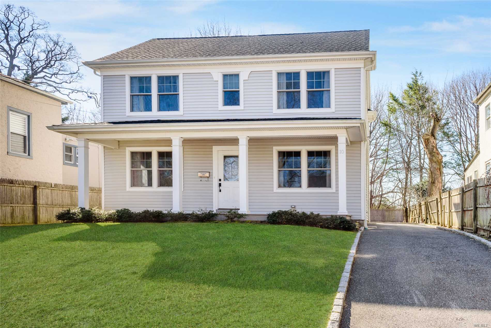 Move In To This Totally Renovated 4 Bedroom, 2 Bath Front Porch Colonial On Dead End Street. Oversized Property, Huge Eik, LR, Den/Office. Hardwood Floors Throughout. CAC. House Completely Rebuilt In 2013.