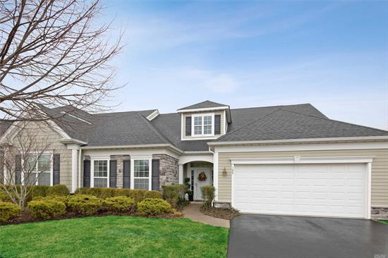 Located in a Luxury 55+ Gated Community This Diamond + Unit Features 3 Bedrooms and 3 Baths. This Pristine Corner Southampton Model Features an Open Floor Plan with Versatile Living Space. Open Kitchen w/Granite Countertops, Central Air, Gas Fireplace, Upgraded Appliances, Wine Bar, Custom Garage Cabinets, Full Patio! Lots of Amenities Including a Indoor & Outdoor Heated Pools, Clubhouse, Fitness Center, Tennis Court, Bocce Courts and More!