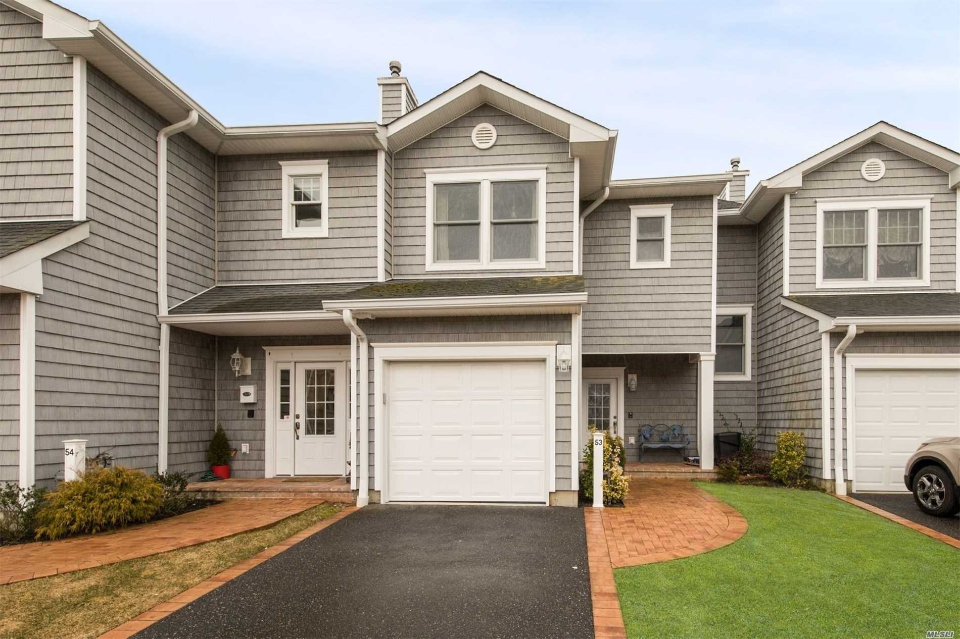 Feel like You are on Vacation Every Day. 3 Br 3 Bath Semidetached Townhouse in New Gated Boating Community; Andersen Windows/Sliders; Granite and Stainless Appliances; Pre--Engineer for Elevator; Patio of Master; No Maintenance Deck off Great Room. Garage and Private Driveway; Includes Your Own Boat Slip.