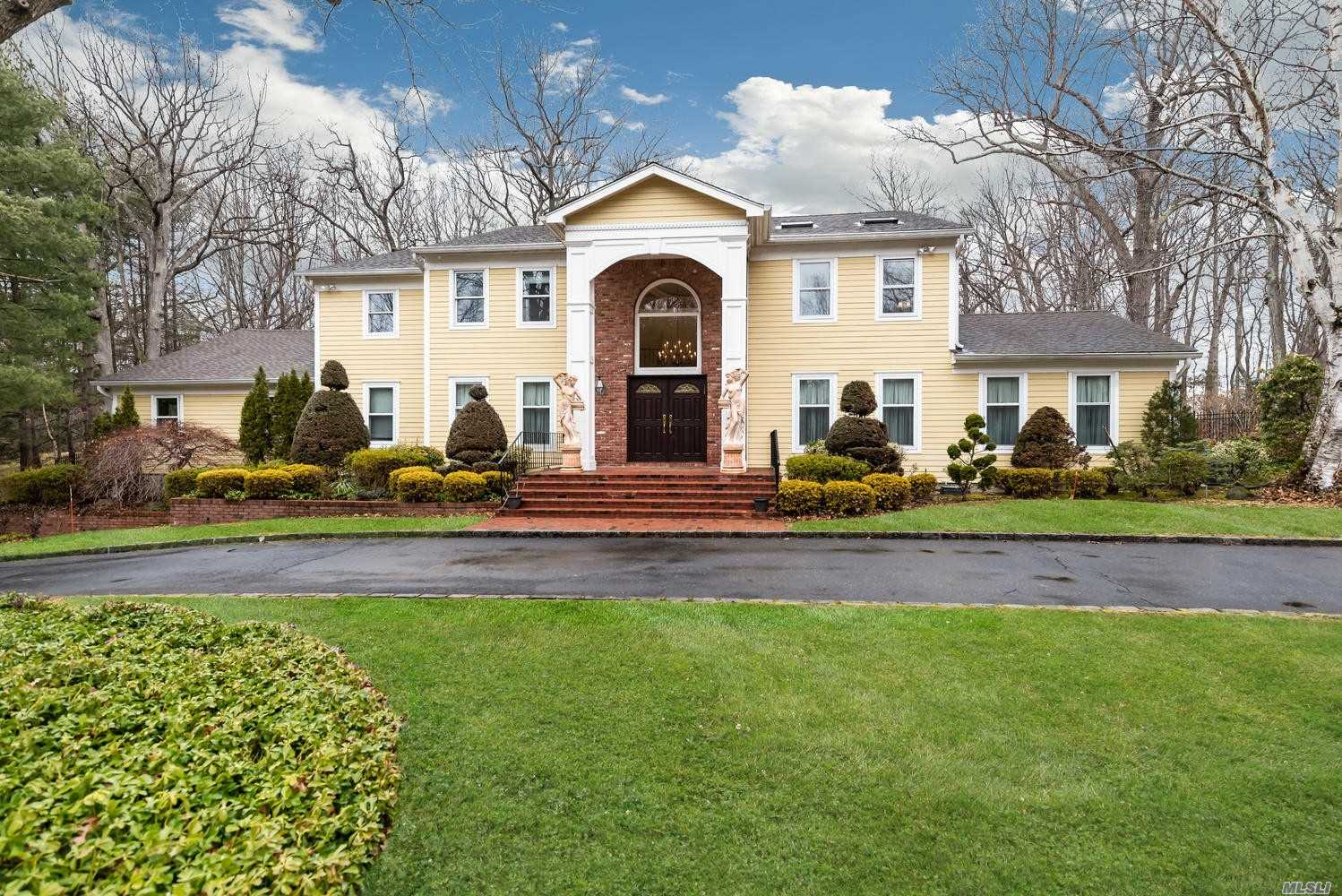 Stunning and well maintained...perfectly perched on magnificent property. Circular drive, 3 car, pool and useable property.3 Fireplaces/master, den and living room(2 gas and 1 wood burning). Gas heat/ Generator Granite EIK....massive walk-in closet in Master suite...radiant heat in luxurious master bath.... so much more...