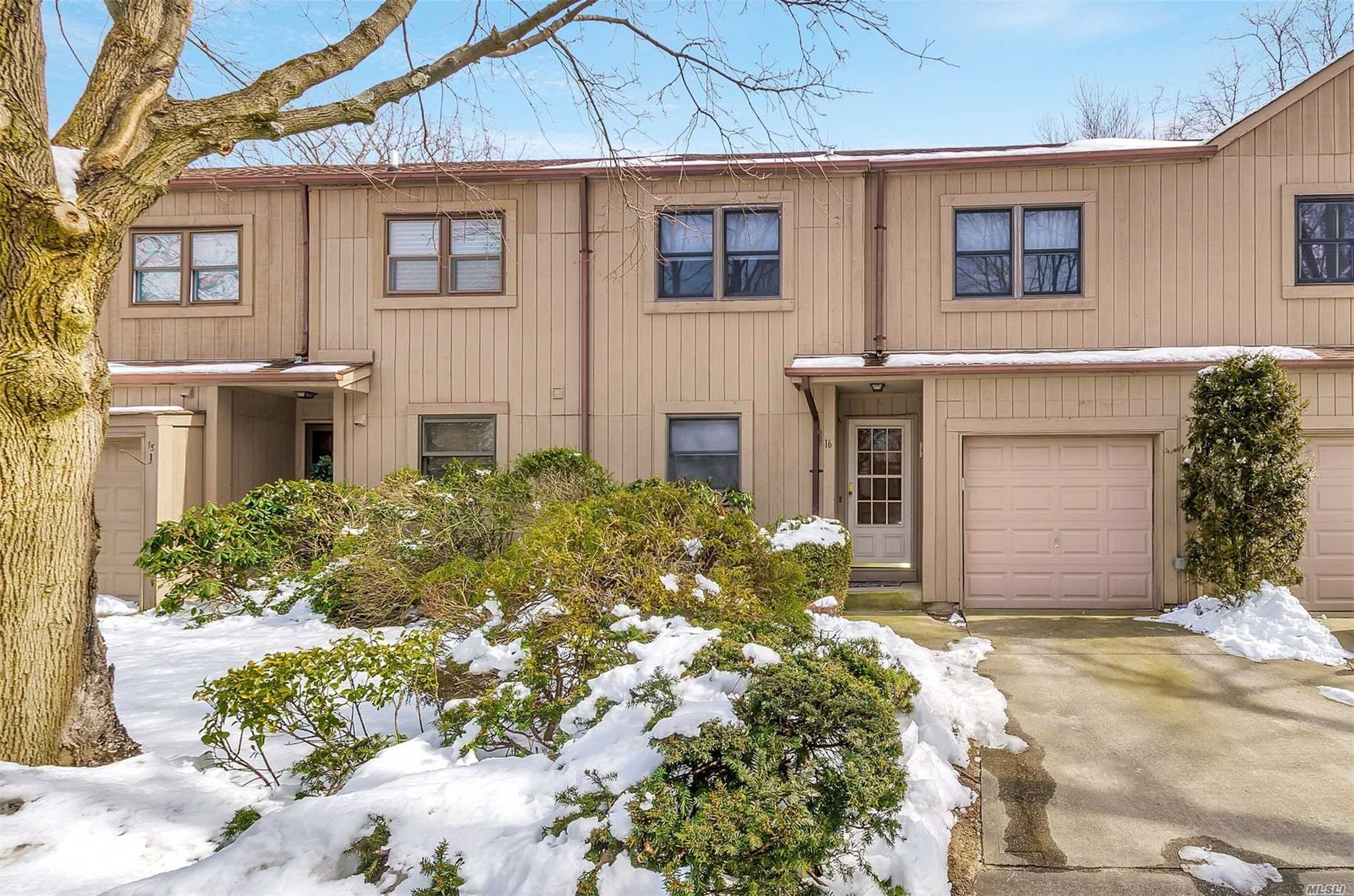 Lovely 2 Bedroom, 2.5 Bath with Hardwood Flooring, Spacious Master Bedroom with Walk in Closet and Private Bathroom. There is a 1 car attached garage, Finished Den with Slider to Patio in Basement Area Plus Storage