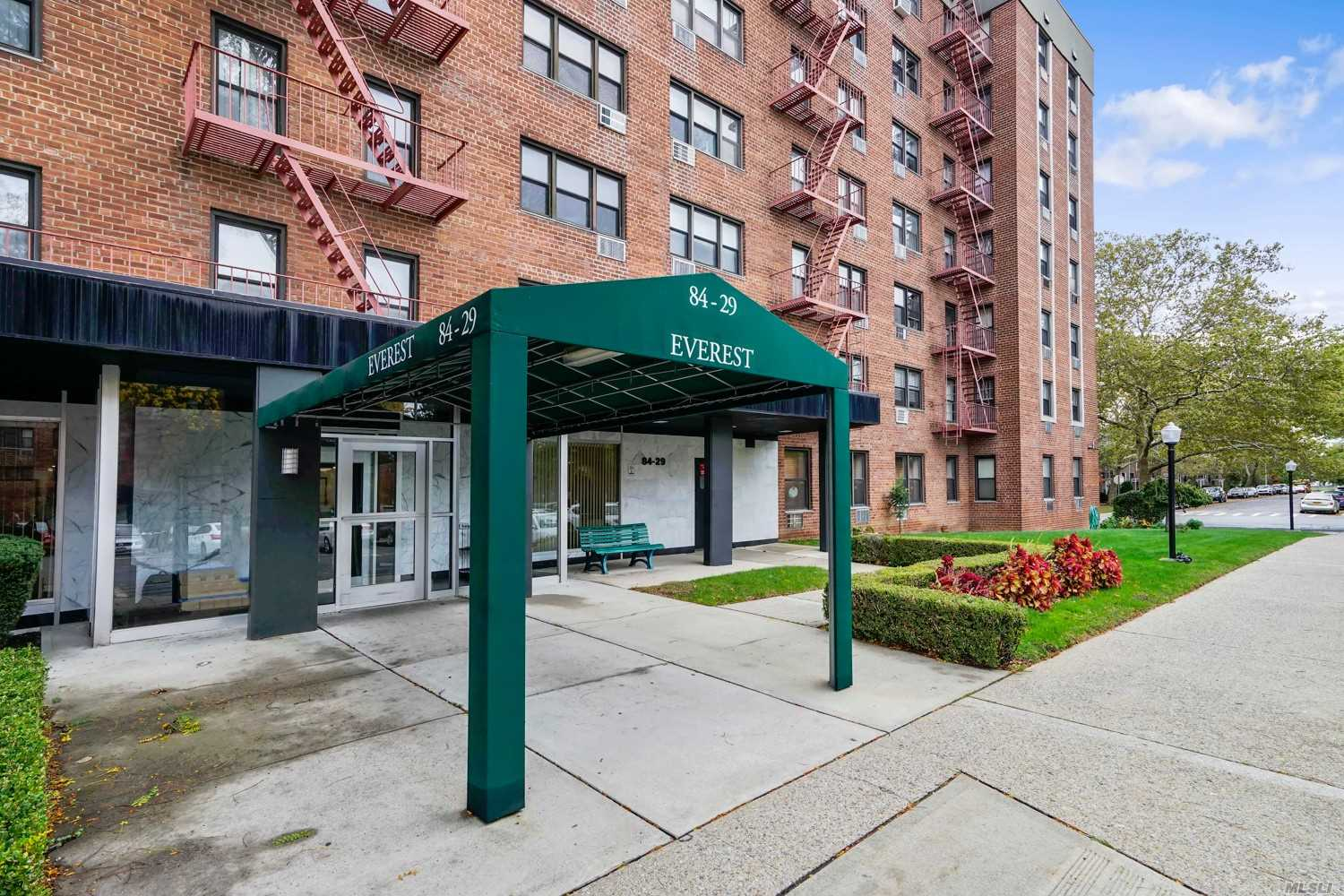 L-Shape Alcove Studio Cooperative. *Studio Can Easily Be Converted To A Small Private One Bedroom. Updated Unit With Lot's Of Natural Lights; And Good Closet/Storage Space. Laundry In Building. Intercom & Buzzer Vestibule Entrance. Park Benches Throughout Common Grounds. Located Near Shopping Center; Park And Express Bus To Midtown NY. Low Flip Tax, $5.00/Share, 185 Shares