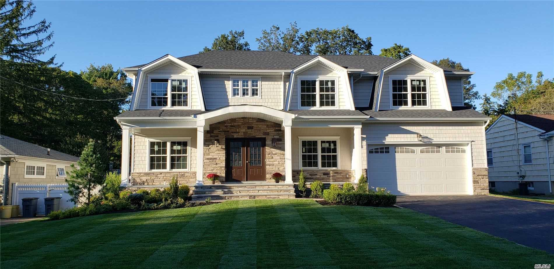 North Syosset Welcomes this flawless, Hamptons Style home! Designed with the most discerning buyer in mind! Unparalleled attention to detail, Superior craftsmanship & finishes. This floor plan is sure to impress! Master ensuite on 1st floor as well as Master ensuite on the 2nd Floor, Breakfast nook in Gourmet EIK, Vaulted Entry Foyer, FLR, FDR, Family room w/Fireplace and built-in cabinetry, Walk-in Pantry, Laundry/Mudroom, To Be Built! Photos not exact as actual home/plans subject to change.