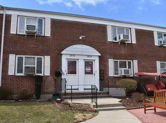 Beautiful, bright and spacious apartment in excellent condition. Coop features huge living room, formal dining area, updated kitchen and appliances, 2 spacious bedrooms, updated bathroom, and a pull down attic for lots of storage. Garden apt in a court yard in a great location. Close to all conveniences, schools and transport. Must see to appreciate.