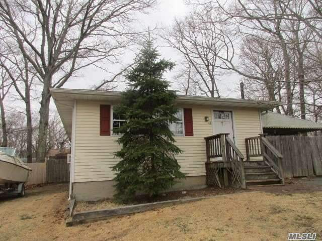 Ranch Style. Large Eat In Kitchen . Living Room Offering Fireplace. 2 Bedrooms. Additional Room Perfect for Den or Computer Area. Can be Converted to 3rd Bedroom. Full Partially Finished Basement for Additional Entertaining Space and Storage.