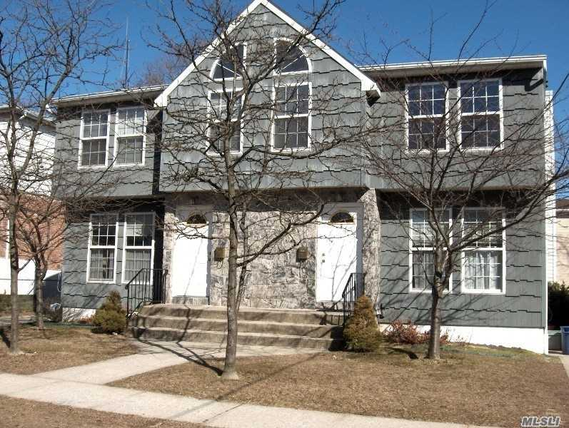 Large Beautiful Duplex in Excellent Condition. Landlord will deliver the unit with New Master Bath, New Kitchen, New Hardwood Floors. 3 Br, 2.5 Bth. Living Rm W/FPL, Master Br W/Mbth, Lovely Backyard, CAC, Finish Basement W/Laundry. Off Street parking For 2 Cars. Close To Town, Shopping, Beach and Manorhaven Park & Pool.