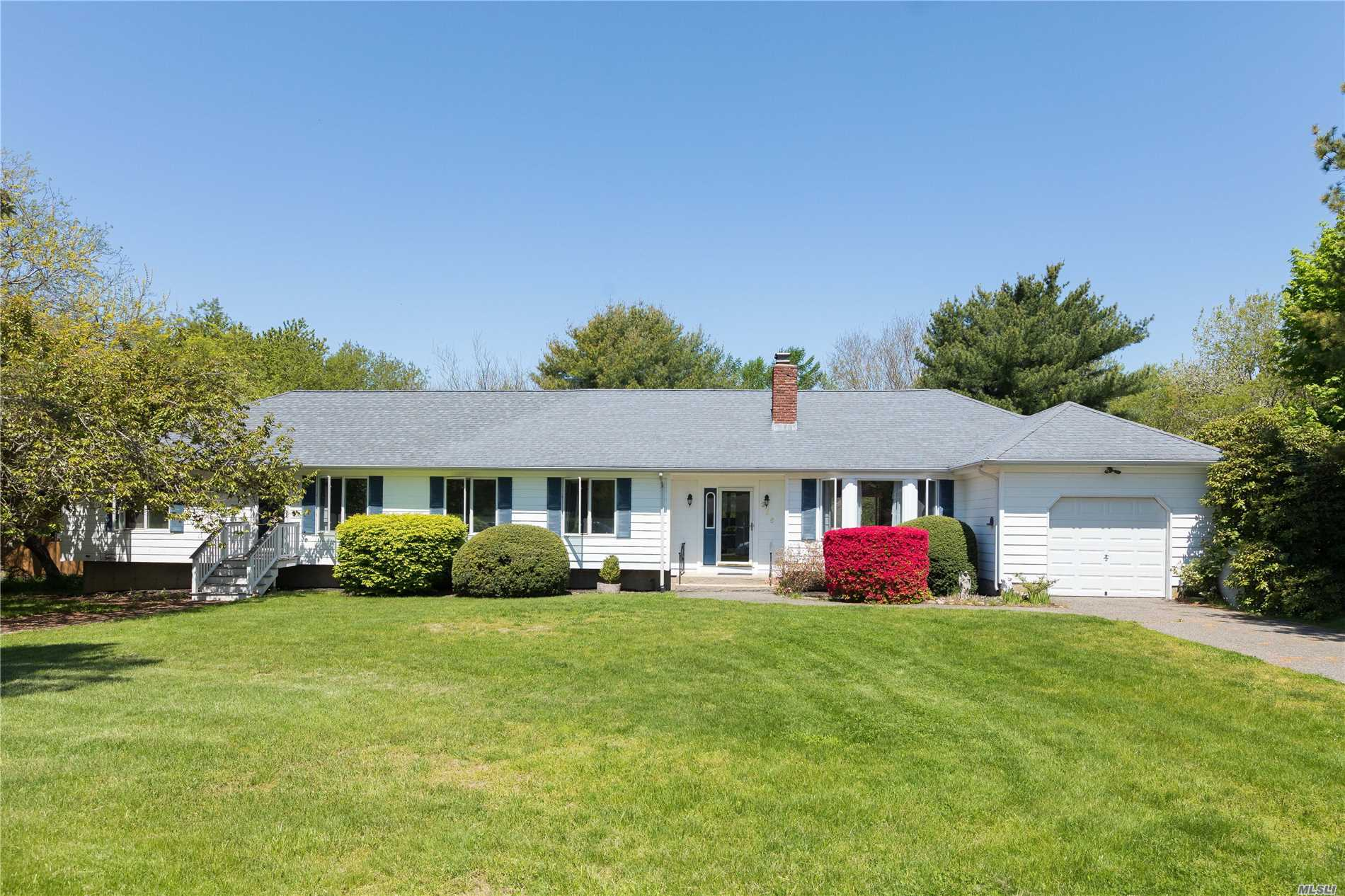 A sprawling 4 bedroom, 3 bath Ranch with many opportunities, situated on a shy acre just a short distance from the heart of Southold Village. Beautifully landscaped park-like back yard with plenty of room for a pool. Close to shopping, restaurants, transportation And Schools. Separate guest wing, possible mother/daughter.