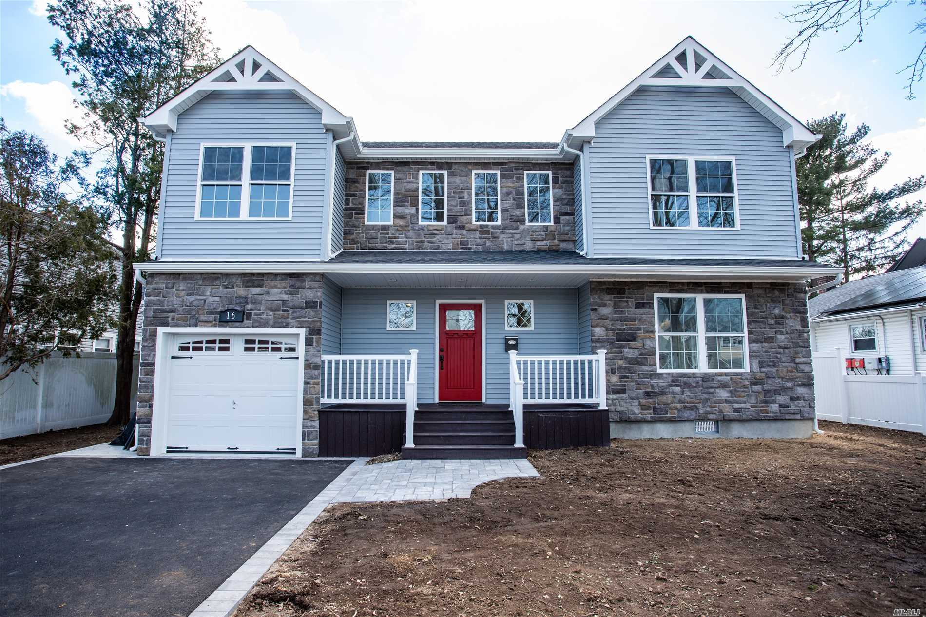 New Construction With Beautiful Layout, Open Concept Entry Into Living room With Fireplace Leading Into Kitchen First Floor Has Good Size Bedroom + Guest room, 2nd Floor Has Master bed and 3 Other Bedrooms With Full Bath