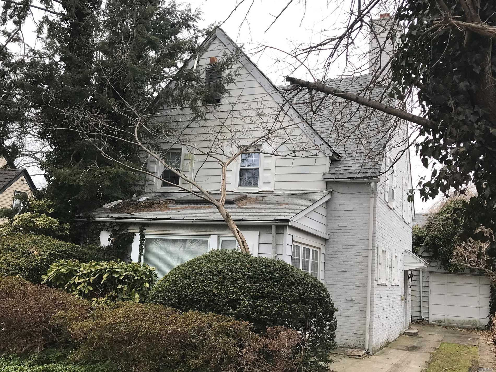 well kept home on quiet block of Cord Meyer, 50'x100' lot, 3 Bedroom, 2.55 Bath, Den, open porch, 1.5 bath on the first floor, Full finished basement,  attic, garage, backyard with the lush landscaping that reflects loving care, close to shopping and transportation, PS #196