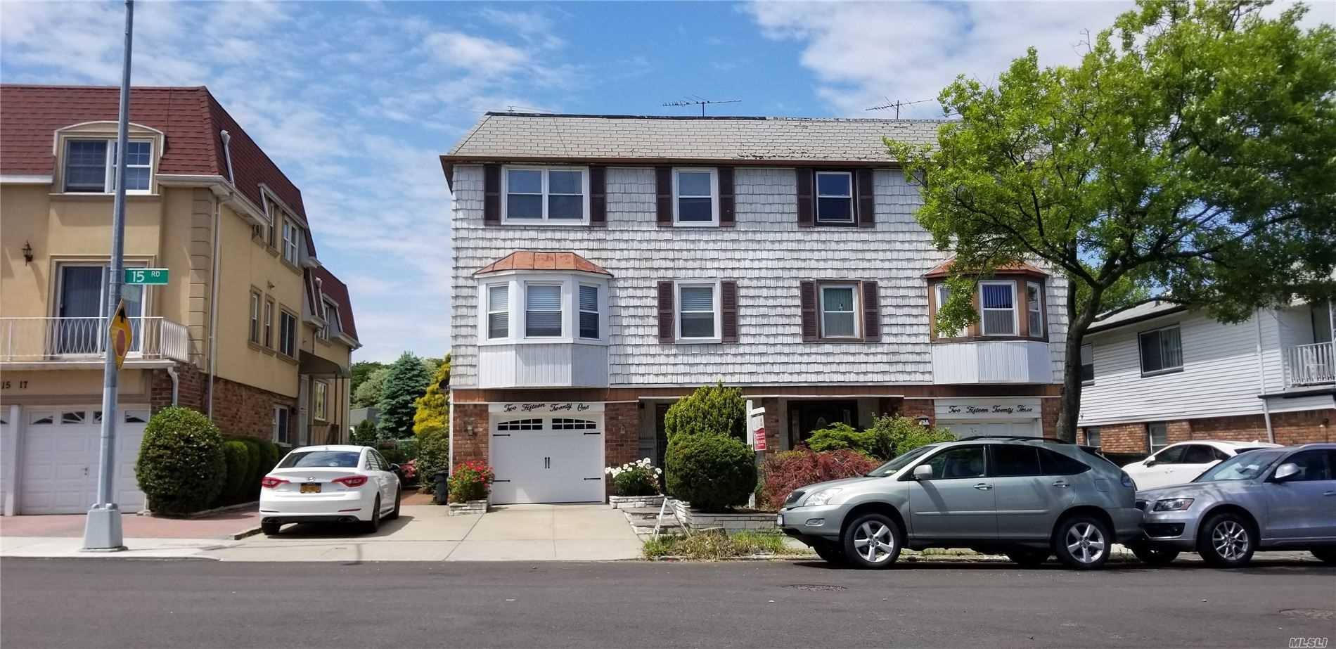 Spacious & Updated Triplex over Duplex 2 Family House in Bay Terrace, Beautifully Updated Kit with Granite C Top And SS Appliances, Bath Room with Jacuzzi, 4 Bay windows and Extended Dining Area, Hard wood Floor Throughout, 1 Car Grage,  Rent Apt with Washer and Dryer, No Lease. Very Convenient Area ; Near Schools, Shopping Mall, LIRR, Park, Golf Course, Exp Bus To Manhattan(QM2, QM32) Q13, 16, 28, Easy To Access Major Highway