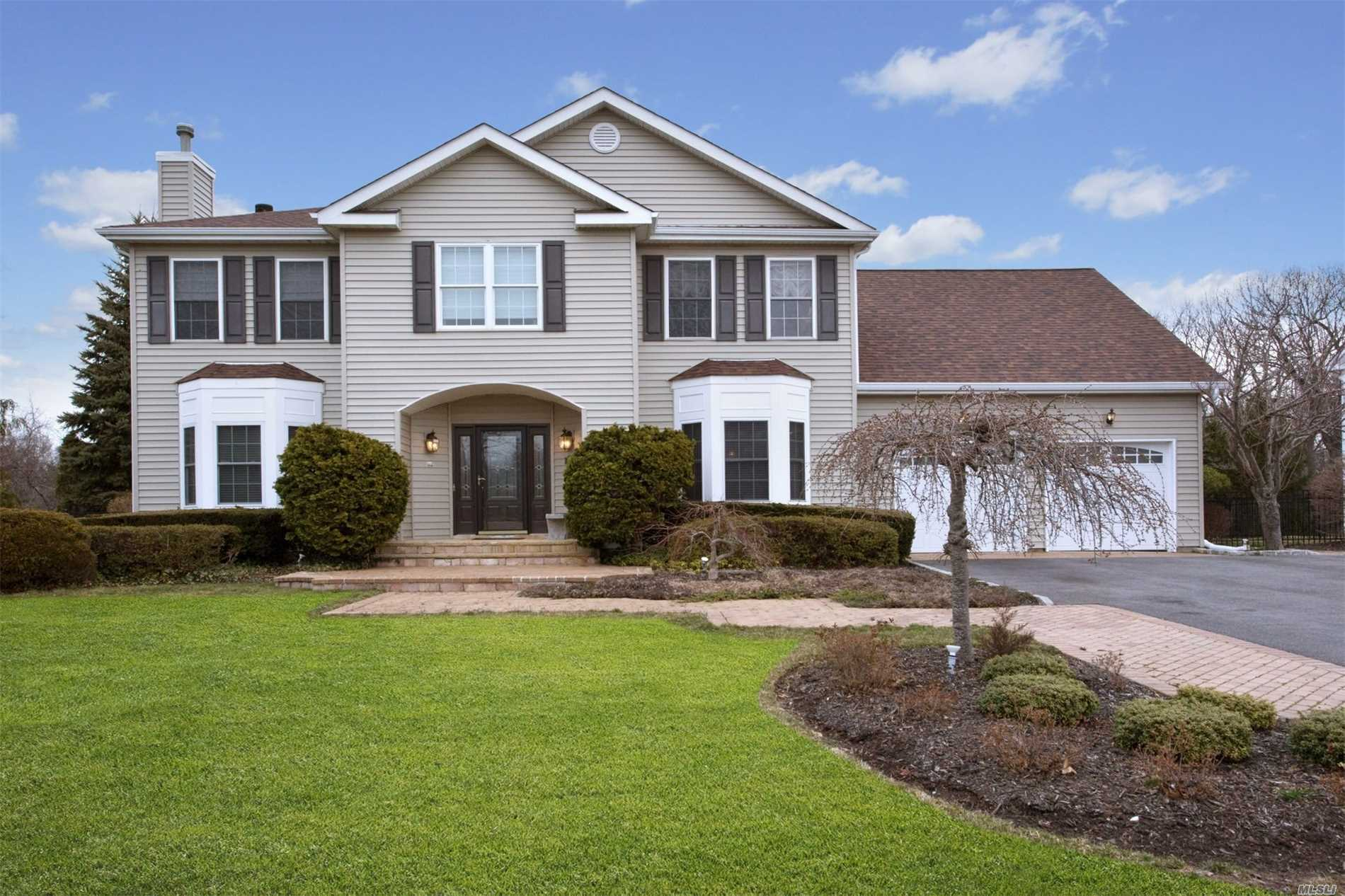 Desirable Birmingham Estates Cul De Sac ~5 Bedroom, 3.5 Bath Center Hall Colonial On A Private Half Acre. Ground Level ~ Summer Kitchen, Au Pair Quarters With Full Bath, Den, Office, Laundry, And Sliders To Patio. 1st Fl.~10' Ceilings, Entry Foyer, Formal Dining Room, Gourmet Eat In Kitchen With Butlers Pantry, Powder Room, Great Room With Fireplace & Sliders To Deck. 2nd Fl ~ 3 Large Bedrooms, Full Bath, Master Suite With 3 Walk In Closets & Laundry. Heated Salt Water Pool With Overflow To Hot Tub. Central Air Conditioning, Central Vac, Whole House Generator. Entertainers Dream! Must See!