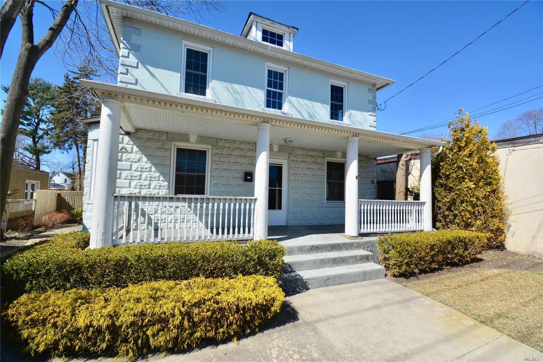 Older Style Colonial, Freshly painted interior, new w/w carpet, nice fenced rear yard. Front rocking chair porch, Gas heat, Tenant pays all utilities, two months security, absolutely no pets, no smoking, Tenant pays Brokers fee of 1 month rent. Convenient to all.
