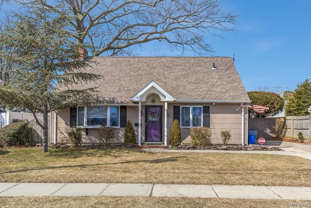 Charming 3Br, 1Bth Cape. Cozy family rm w/ fire place. Updated kitchen & bathroom, Heat and Hot water converted to Gas - Tankless system, Entire Home Has been insulated. Anderson windows, skylights, and Paver Patio. New In Wall AC unit, and New security system with outdoor cameras. Perfect starter Home!