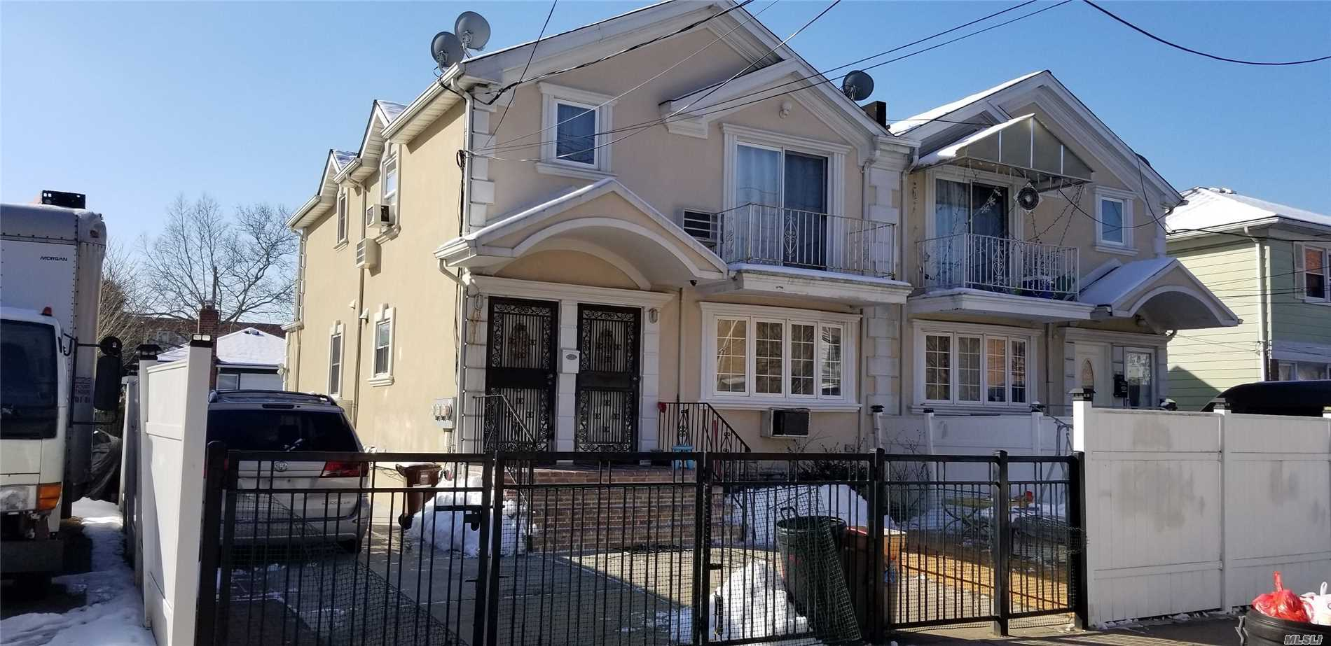 Build 2005, 14 years young & Beautiful Contemporary 2 Family Sd House In Fresh Meadows,  3Br/2bath over 3Br/2Bath with Front & Rear Terrace, Excellent Condition