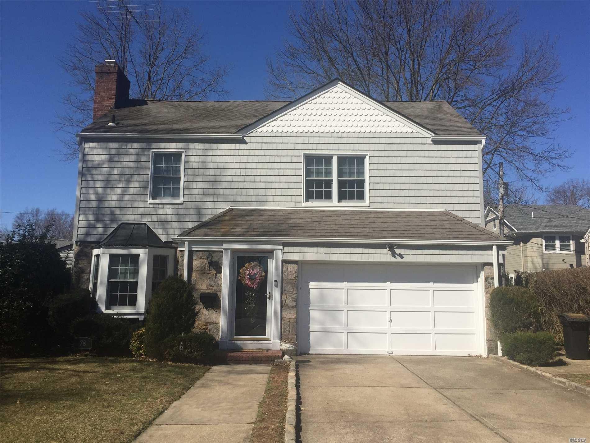 Charming Colonial Home on Great 80x100 Property. New Kitchen with Stainless Steel Appliances. New Full Bath on First Floor. Living Room with Wood Burning Fireplace, Formal Dining Room, and Den with Access to Backyard. 2-Car Garage. Four Bedrooms and Beautiful new Bath on Second Floor. Lots of Storage. Small dogs up to 20lbs. allowed.