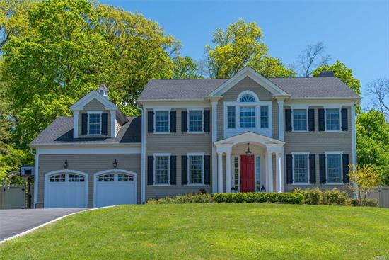 2017 picture perfect 5 bdrm Colonial in one of the most sought-after locations in Cold Spring Harbor. Move right in to this Midland Section home situated on .5 acre boasting attn to detail throughout. 10ft ceilings, exquisite mouldings, marble bths, & stunning EIK w/ high end appliances adjoins fam rm w/ fpl & coffered ceilings. Luxurious ~800 sqft master en-suite w/ walk-in closet. 1st fl en-suite bedrm & 2nd fl lndry for convenience. Eagle Dock Beach w/ mooring (fee). 22KW automatic generator.