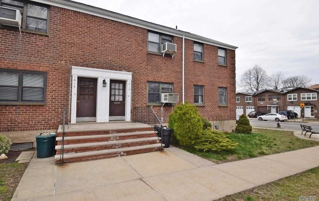 Bright & Sunny Lower Corner Apt. with EIK. New Appliances, High Hats, Crown Molding, King Sized Master Bedroom, HW Floors, Large Closets, Storage, Ample Street Parking, Maintenance includes heat, hot water, 2 a/c's, washer, dryer, dishwasher, real estate taxes & electricity. Flip tax paid by Seller.