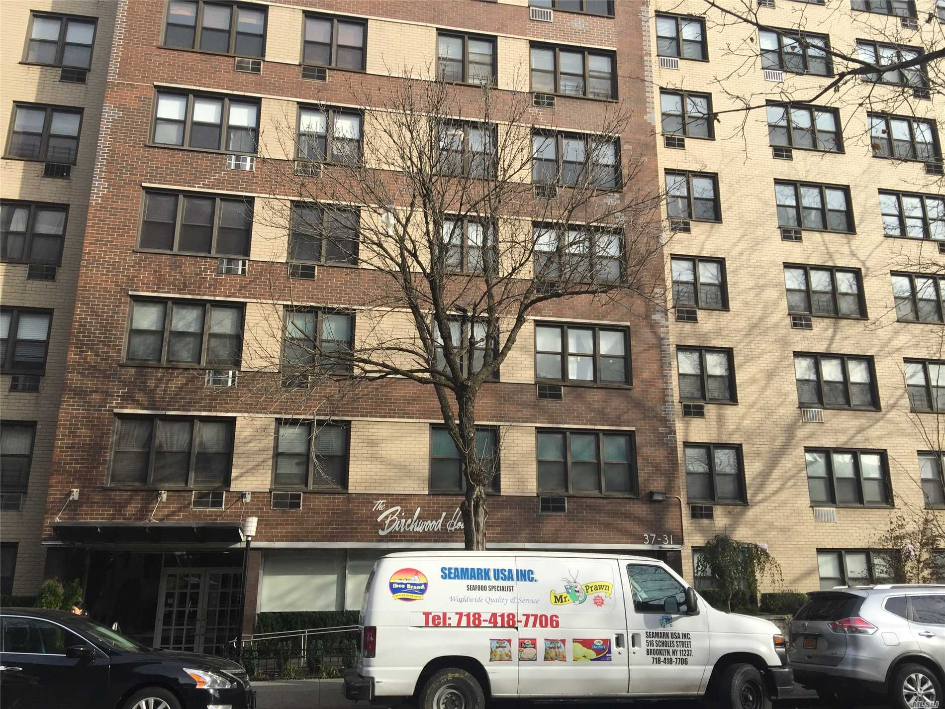 Fully Renovated Junior4--2Brs Corner Unit, Bright With Natural Light & Excellent Ventilated Unit--Windowed Kitchen W/Custom Built Cabinatery, Windowed Bathroom, Parquet Floors Throughout, A Block Away From Subway Station/Shopping Districts, Solar Energy Efficient Building.