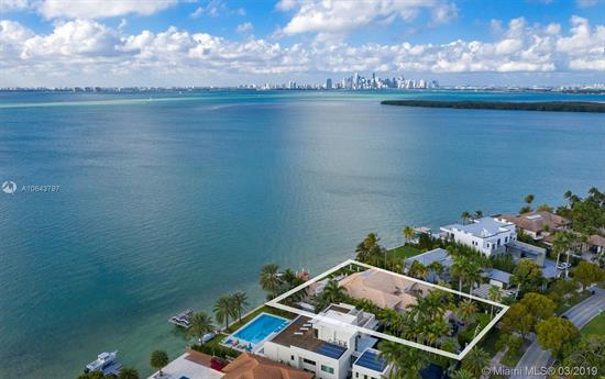 Key Biscayne Magnificent Residence With Miami Skyline At His Best. Built On A Over-Sized Lot (23774 Sq.Ft). Unique City Views. Home Offers 8, 000+ Sq.Ft Of Great Amenities And Floor Plan. Master Suite On First Floor With Expansive Own Office Library . Family Room . 4 Bedrooms En Suite On Second Floor . Terraces On First And Second Floor . Two Bedrooms En Suite For Staff. High Ceilings Through Out The House , Large Floor To Ceiling Impact Glass Windows , Large Covered Terrace Embracing The Backyard With Bbq Area, Sitting Area And Amazing City And Pool Views.Dock Area With Boat Lift (24000 Pounds- 33 Plus Ft Boat ) And Dock Sitting Area. Double Stairs Circulation . 2 Car Enclosed Garage . Gated . Must Visit To Appreciate How Grand This House Is.