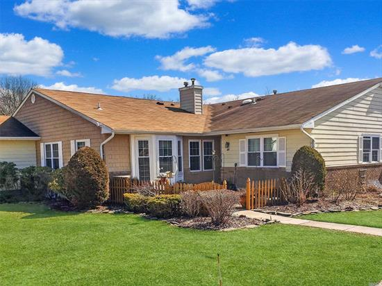 Sale May Be Subject To Term & Conditions Of An Offering Plan. Largest Model, End Unit With Large, Open Floor Plan With Full Basement. Features Include Garage, Gas Fireplace, Crown Moldings, Master Suite With Bath & 2 Closets, Much More. Newer, Windows, Brick Pavers, Fence, and Water Heater.