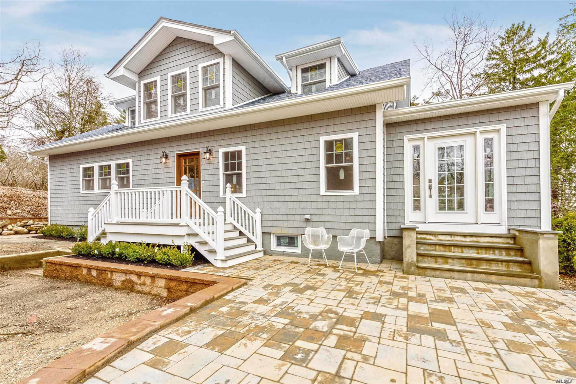Totally Renovated Cape, upgraded to top shelf design and appliances, Interior Stunning. NEW everything, open floorplan, Large full basement, wine celler. Master bedroom with Bath, WIC, 2 bedrooms with Bath. Winter waterviews, .75 acre. Harborfields Schools . Motivated seller...