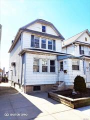 Beautiful bright single Dwelling house in excellent condition. Large living room and formal dining room. Nice sized rooms with two beautiful  baths,  full finished basement, gas cooking & heating , 3 zones A/C , new wood  floors throughout ,   Spacious yard, private driveway, near shopping & transportation. Great location 5 mins bus To Main st. 18 mins walk to Main st.