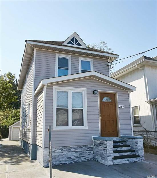 Totally renovated Three Bedroom 2.5 Bath Colonial with detached garage. Wood floors, New appliances !!! Gas cooking and Heat