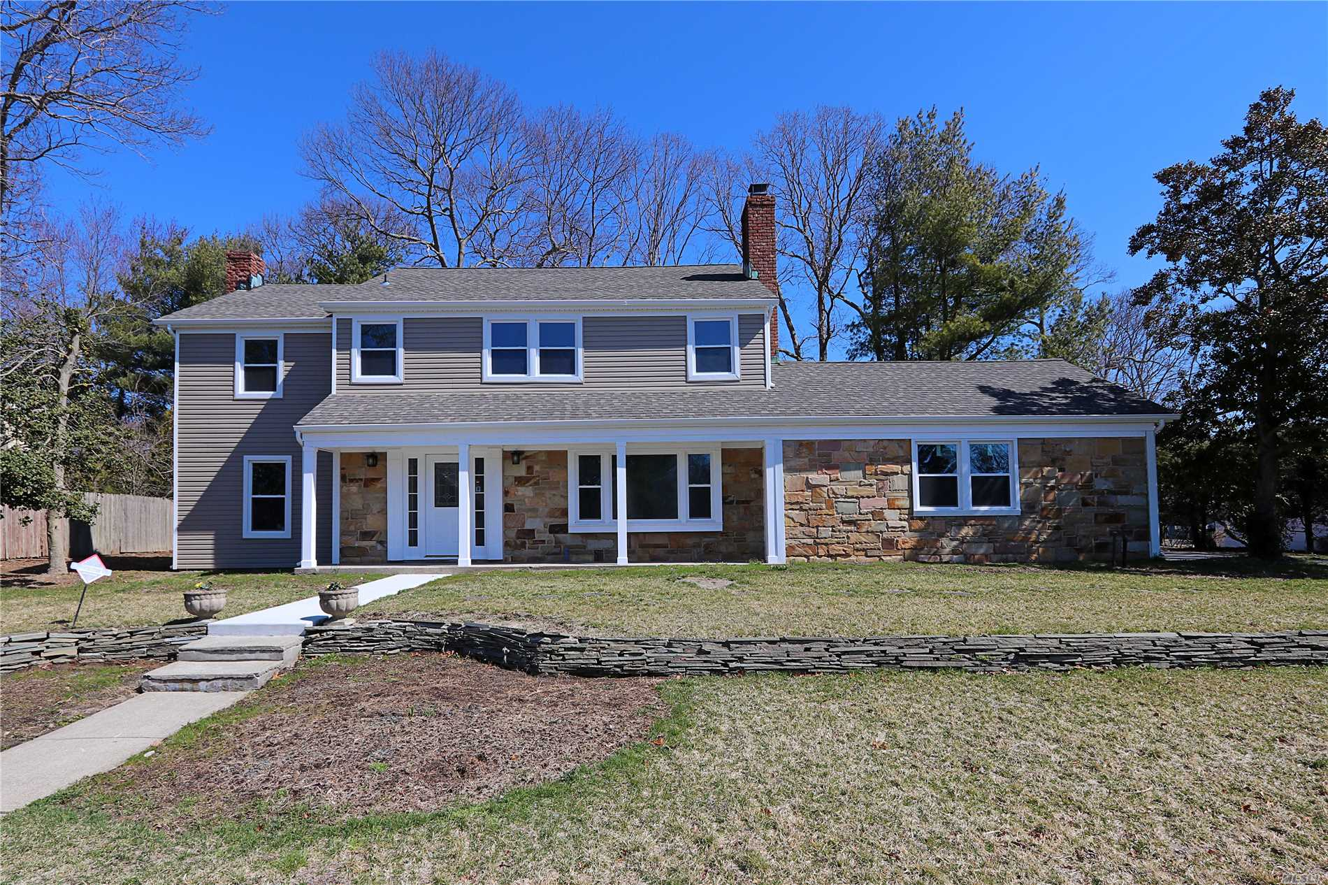 Don't miss out on this newly renovated 5 bdrm 3.5 bath colonial on quiet street in much sought after neighborhood of Coram! Home boasts CAC, 2 fpls, granite countertops, ss appliances, 2-car garage, master-suite with his and her closets and more! There is a massive great room off kitchen, making the possibilities and entertainment opportunities in this home endless!