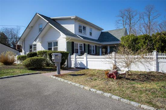 Charming house on dead end block, with updated floors, brand new custom staircase, updated full bath, sitting on beautiful large backyard, Islip school district . You don't want to miss out on this home.