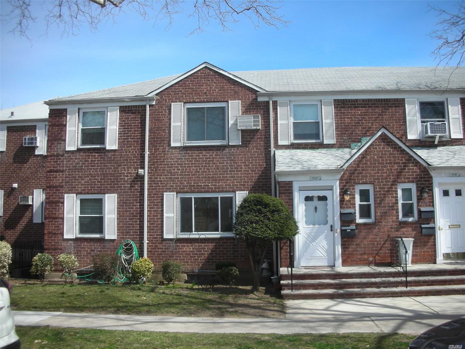 Upper Large 2BR G, Oak kitchen, full sized washer and dryer, 2 wall air conditioners, Pull down stairs to large storage attic, just 1 block to PS186 elementary and the Queens Farm.