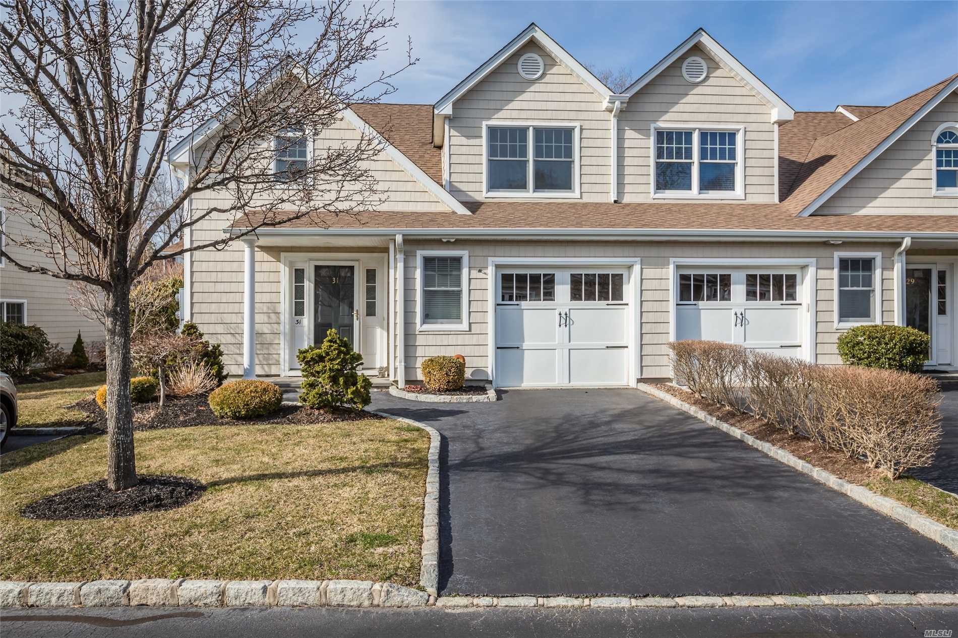 Meticulously keep! Shows like brand new! Wonderful end unit in 55 & over community.Ooen floor plan for entertaining. Granite kitchen. Master bedroom on first floor.Freshly painted! Truly turnkey! Don't miss this one!