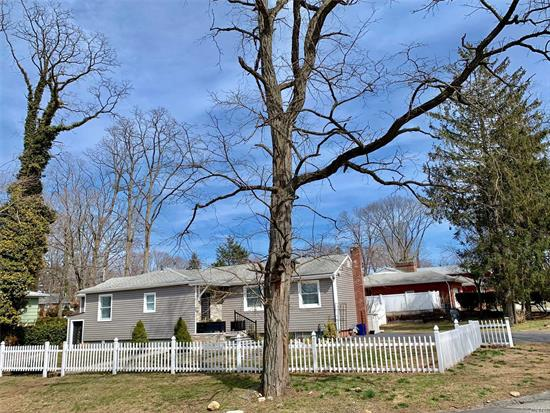 Remodeled Sunlit 3+Br 2Bth Ranch On Large Fenced Corner, Landscaped Prop, Large Deck, And Huge Barn Style Shed. Custom Granite EIK w SS Appliances And Center Isle Gorgeous Pine Floors Sliding Doors From Large LR To Deck And Yard All New Baths, Windows, Roof, And Gas Heating. Full Fin Basement With Sep Outside Entrance. Seconds Away From Long Island Sound and Beach!