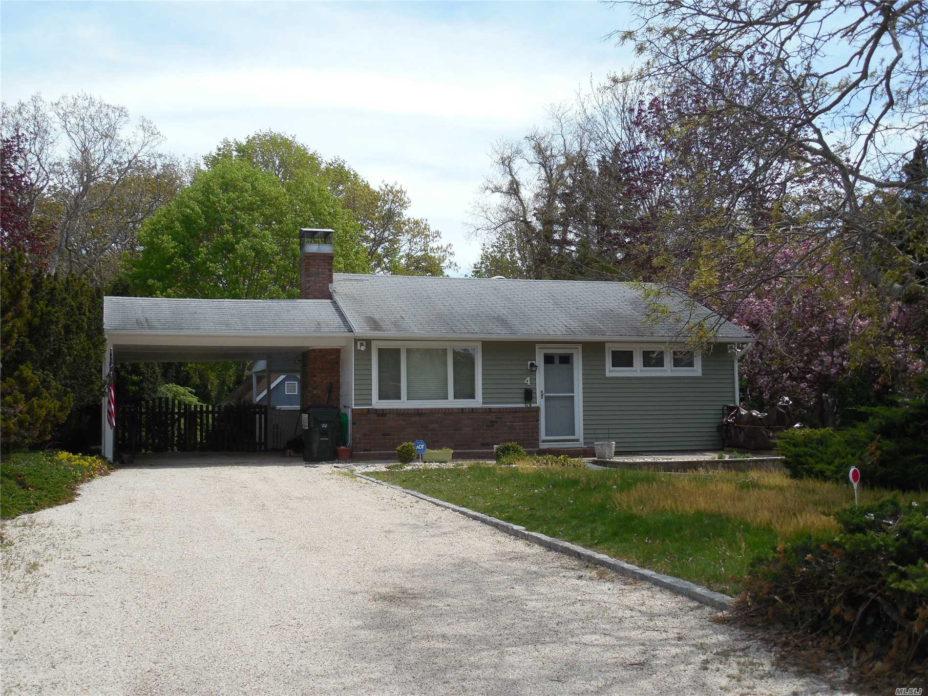 Winter Only. Located between Hampton Bays & Southampton, 2 Bedroom Cottage with Fireplace & Waterviews of Peconic Bay