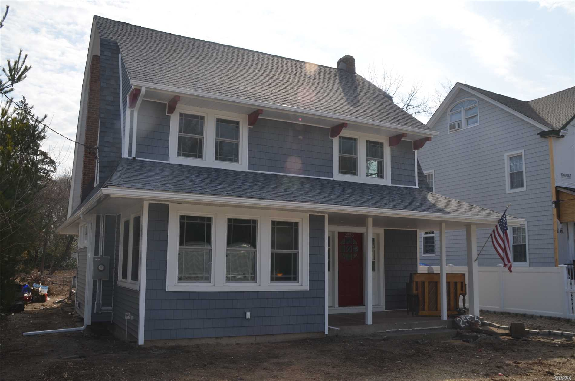 Mint Condition 3/4 Bedroom, 2.5 Bathroom Colonial located in the heart of downtown Baldwin, minutes to the LIRR. This home features an OPEN FLOOR plan, wood floors,  new roof, new siding, new windows, large open kitchen, full finished basement and a huge yard. Too much too list