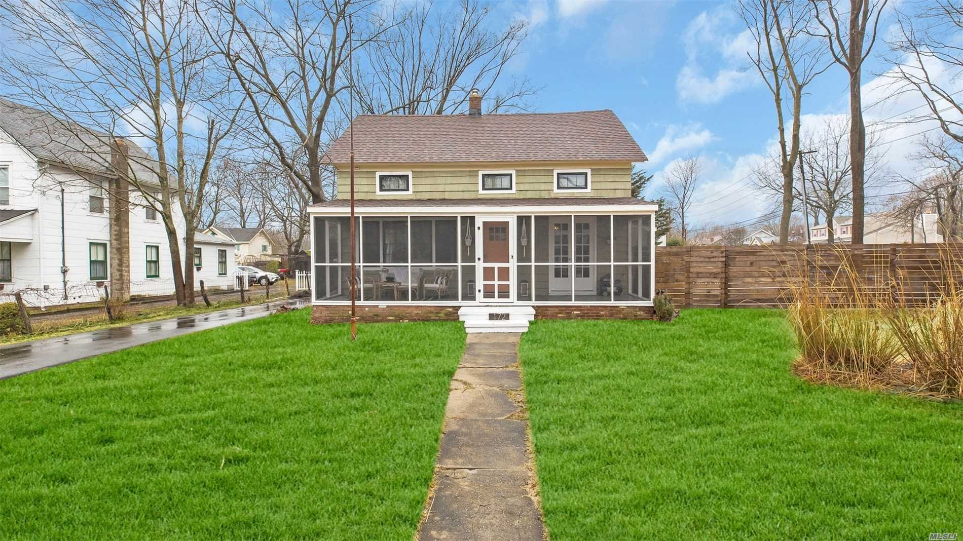 Opportunity knocks for the smart buyer for this 3 BR colonial close to Town. No details spared in a recent $60K renovation-- includes NEW walls, moldings, insulation, wiring, plumbing, bathrooms, flooring, doors, Pella window, new guest bedroom and so much more! Features enclosed porch, new shed, deck, fence & patio pavers. Kitchen is functional with new SS appliances but renovation not completed because owners are relocating. Great opportunity for buyers to make it their own.